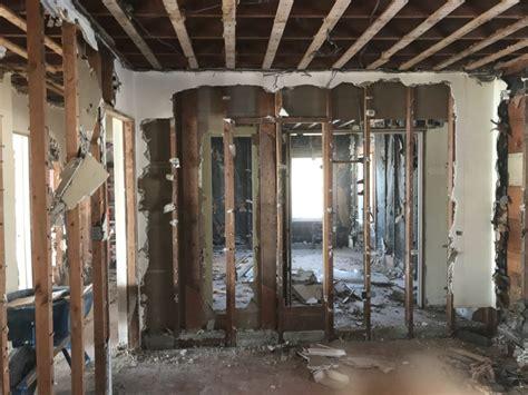 full interior demolition  residence  clean start