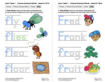 produce consonant blends fl  fr lesson  book
