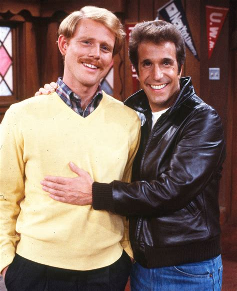henry winkler reunites  happy days ron howard