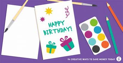 Money Cards Ways Save Creative Greeting Own