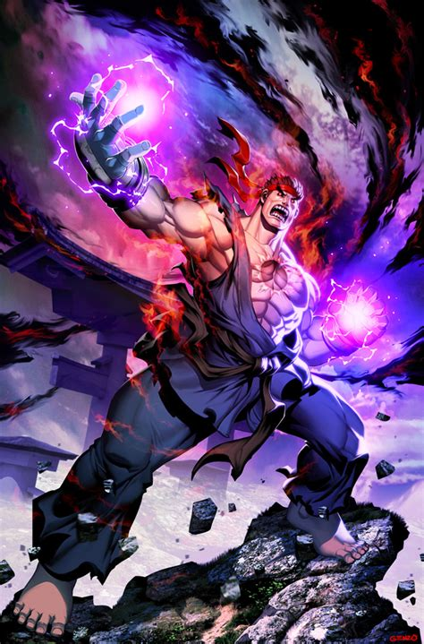 Street Fighter Unlimited 11 Evil Ryu By Genzoman On