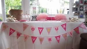 Decoration Anniversaire Fille : decoration buffet anniversaire fille rose papillon mydayandco ~ Teatrodelosmanantiales.com Idées de Décoration