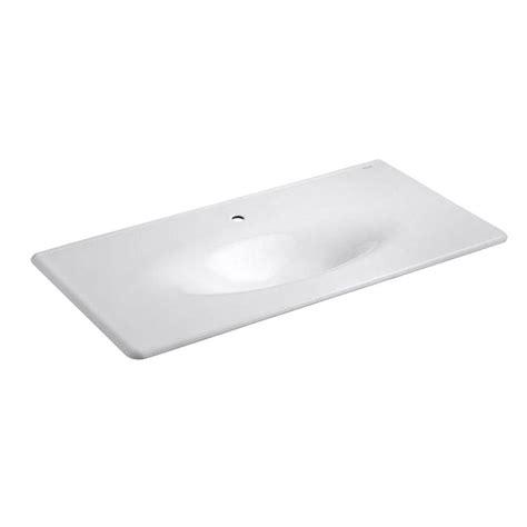 home depot bathroom sink installation kohler 22 25 in iron impressions vanity top bathroom sink