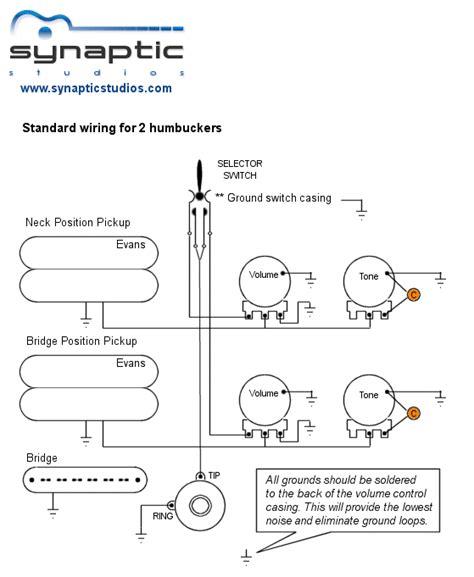 Standard Humbuckers Wiring Diagram
