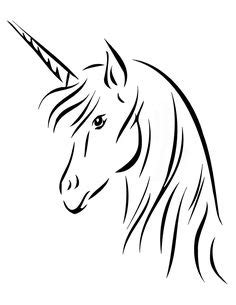 Unicorn Head pattern. Use the printable outline for crafts