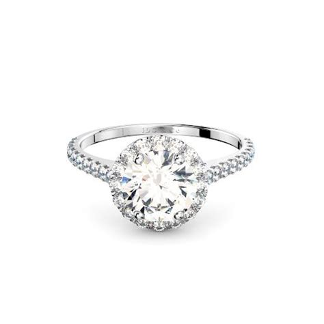 diamond wedding band perth 18k white gold diamond in halo setting with diamond band engagement ring perth