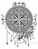 Drawing Compass Mandala Zendoodle Etsy Getdrawings sketch template