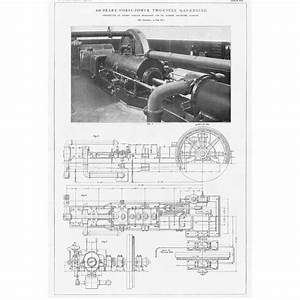 1912 2x Antique Engineering Prints