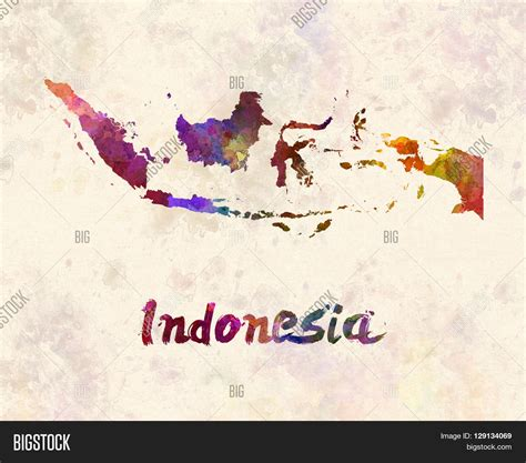 indonesia map artistic image photo  trial bigstock