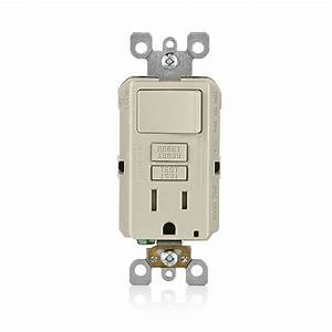 Leviton 15 A Smartlockpro Combination Gfci Outlet Switch