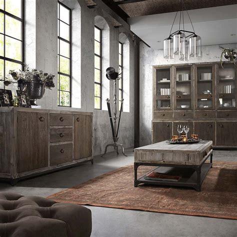 flamant meuble buffet vaisselier en pin massif style loft industriel