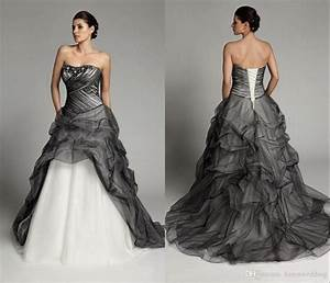 discount fashion black and white wedding dresses plus size With black plus size wedding dresses