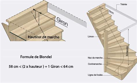 construire un escalier balanc 233 224 quart tournant
