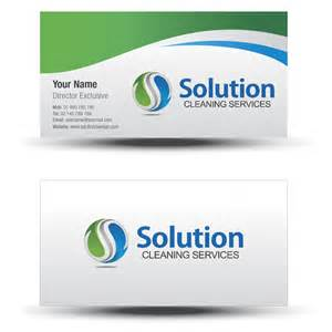 Cleaning Service Business Cards Designs
