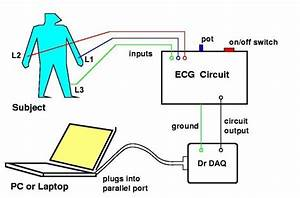 Electrocardiogram  Ecg  Circuit Diagram For Use With