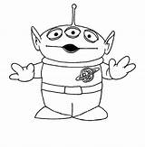 Alien Toy Story Coloring Colouring Disney Drawing Tattoo Aliens Disegni Sheets Colorare Party Printables Books Printable Easy Pixar Coloriage Toys sketch template