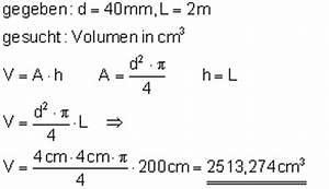 Durchmesser Berechnen Zylinder : volumenberechnung i ~ Themetempest.com Abrechnung