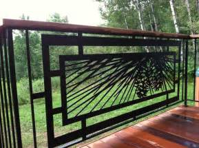 modern pinecone railing for outdoor deck patio or tub area powder coated steel designed