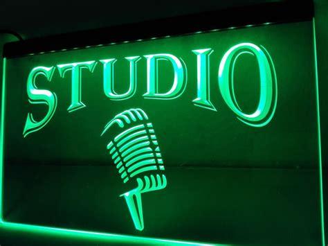 studio on air light music studio led sign on air microphone light display