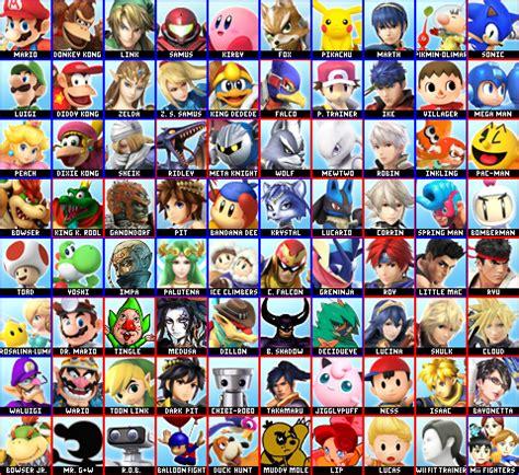 super smash bros roster maker version