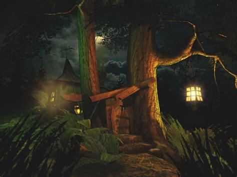 fantasy  screensavers fantasy moon spooky