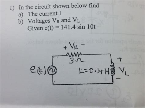 Solved The Circuit Shown Below Find Current