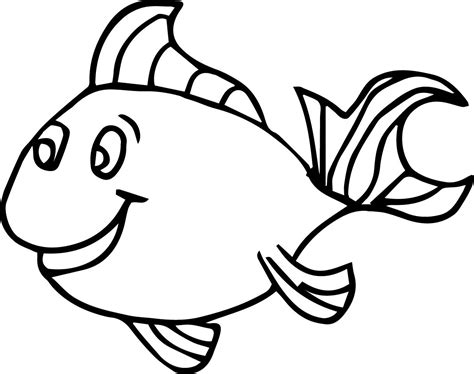 fish coloring pages for preschool and kindergarten 854 | fish coloring page