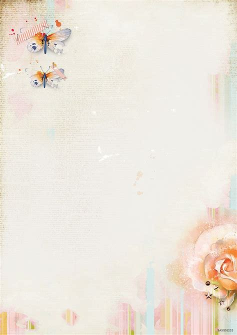 So Spring Background Paper Double Printed A4