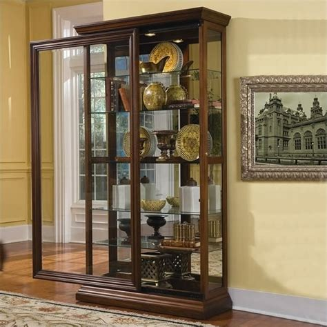 Pulaski Curio Display Cabinet In Black Granite by Pulaski Furniture Curio Cabinet Black Images