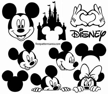 Mickey Mouse Silhouette Vector Disney Cricut Svg