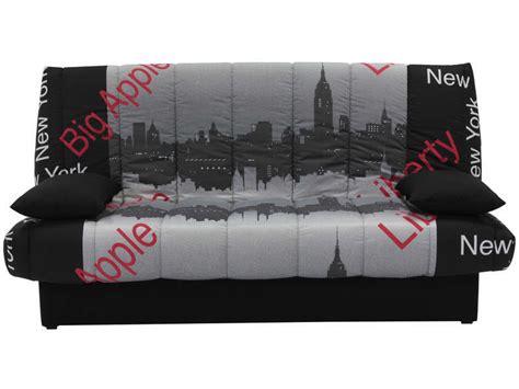 canape clic clac conforama banquette clic clac en tissu motif york vente