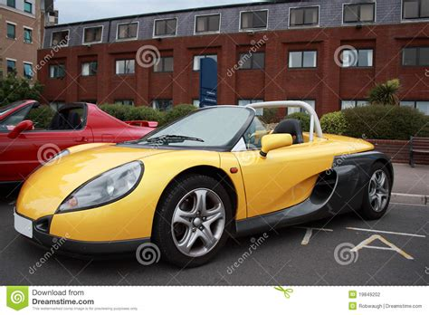 Renault Softtop Convertible Roadster Sportscar Stock