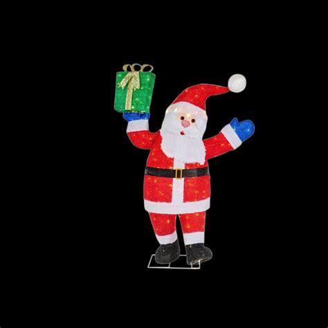 home accents holiday 48 in led lighted tinsel santa with