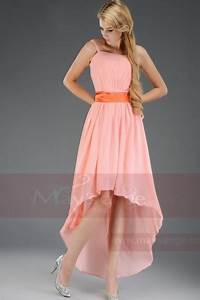 short evening dress light pink coral c656 With robe cocktail toulouse