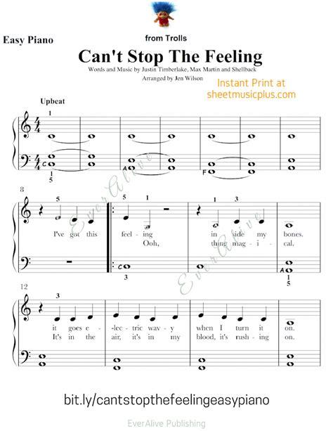 stop  feeling  easy piano  sheetmusic
