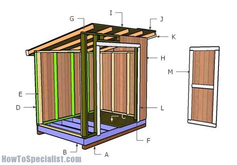 100 6 x 8 foot wooden shed how to build a lean to