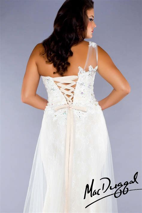 Ivory Plus Size Prom Dress   Mac Duggal 76426F   Plus size ...