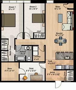 2, Bedroom, Den, Condo, Layout
