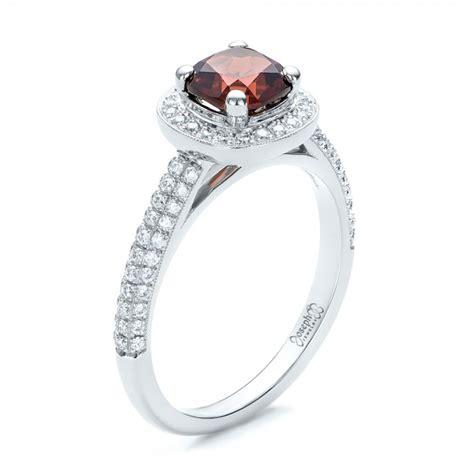 custom garnet and diamond engagement ring 101156 seattle bellevue joseph jewelry