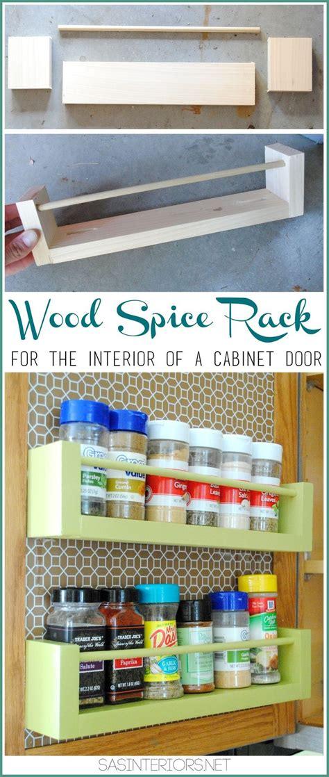 spice holder for cabinet diy wood spice rack holder for inside the kitchen