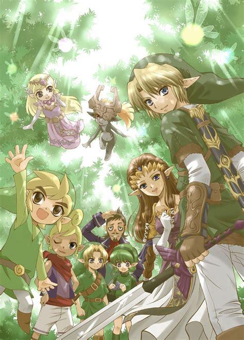 Zelda And Link Through The Years Fan Art Legend Of Zelda