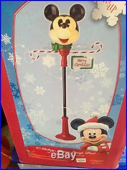 disney mickey mouse christmas lamp post   box