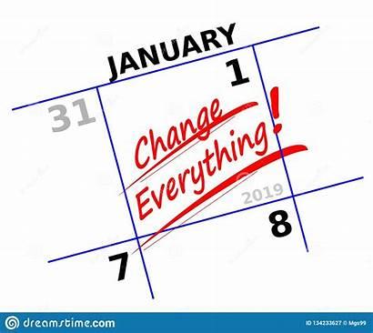 Icon Resolution Calendar Resolutions Everything Change Illustration