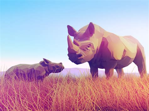 Low Poly Animal Wallpaper - animals low poly blendernation
