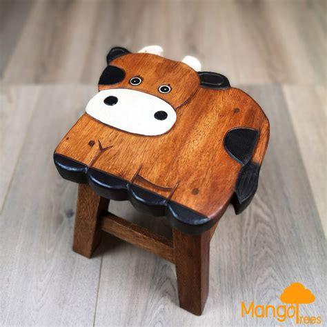 kids bedroom hand carved animal shaped wooden stool giraffe