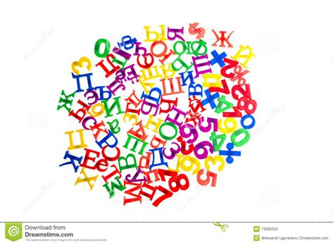 plastic letters  numbers stock  image