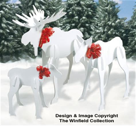 reindeer sleighs large moose pattern set