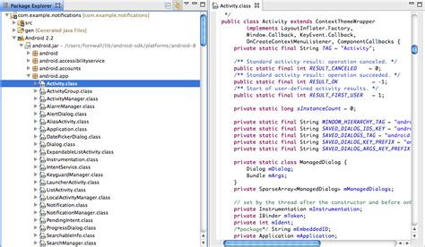 codes for android viewing android source code in eclipse