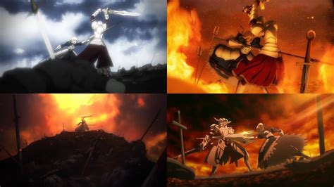 saber  mordred battle  camlann compilation youtube