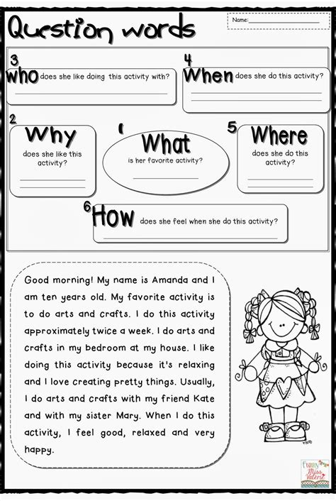 question words worksheet game  worksheets samples